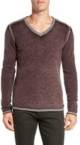 John Varvatos Men's Merino Wool Blend V-Neck Sweater