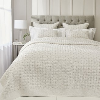 The White Company Lillie Quilt, White Grey, Single
