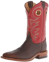 Justin Mens Bent Rail Square Red 11in Boots