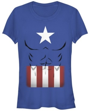 Fifth Sun Marvel Women's Captain America Simple Suit Short Sleeve Tee Shirt
