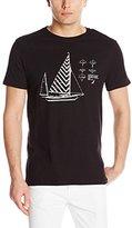 Nautica Men's Sailboat Blueprint Graphic T-Shirt