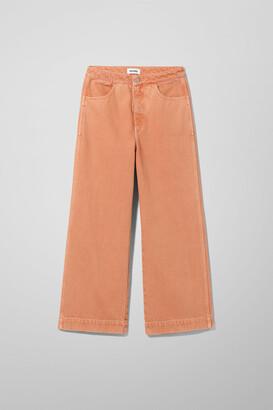 Weekday Vida Tangerine Jeans - Orange