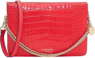 Givenchy Crossbody Bag In Crocodile Embossed Leather