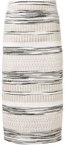 Christian Siriano woven stripe skirt