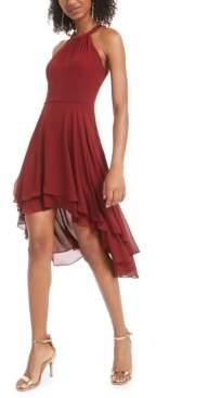 B. Darlin Juniors' High-Low Chiffon Dress, Created for Macy's