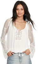 Denim & Supply Ralph Lauren Lace Bell-Sleeve Shirt