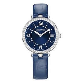 Swarovski Aila Dressy Lady Watch, Leather strap, Blue, Silver Tone