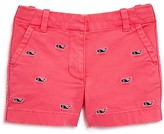 Vineyard Vines Girls' Whale Embroidered Shorts - Little Kid