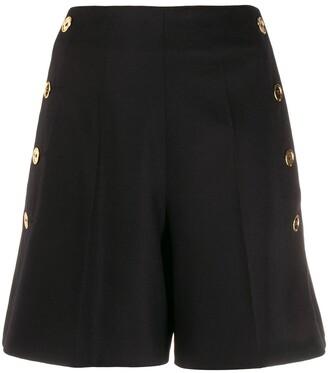 Patou Side Button Shorts