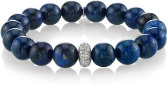 Sheryl Lowe Dumoriterite Bracelet with Pave Diamond