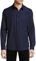 Armani Collezioni Flocked Square Sport Shirt, Midnight
