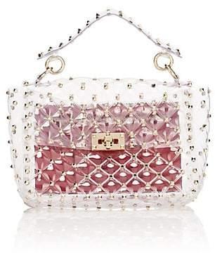 94ceaccd14 Valentino Women's Rockstud Spike. It Medium PVC Shoulder Bag