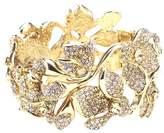 Oscar de la Renta Women's Gradient Crystal & Gold Flower Bracelet