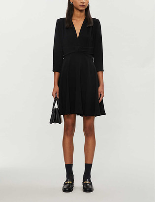 Claudie Pierlot Flared A-line crepe midi dress