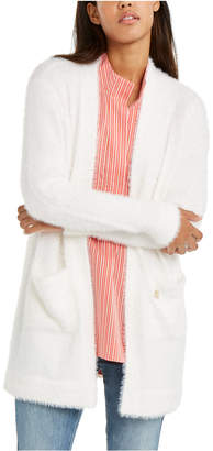 Tommy Hilfiger Fuzzy Open-Front Cardigan