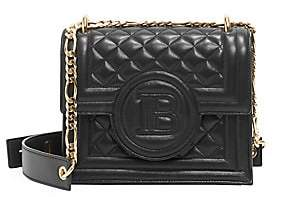 Balmain Women's B-Bag Quilted Leather Crossbody Bag