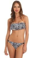 GUESS Jungle Heat Ruffle Bandeau Bikini Top