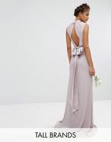 TFNC Tall Wedding High Neck Maxi Dress With Bow Back