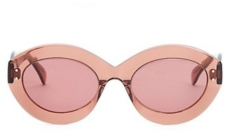 Alaia Enhanced Femininity Nude Oval Sunglasses