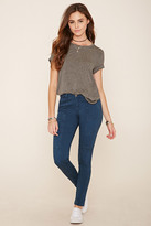 Forever 21 FOREVER 21+ Mid-Rise Skinny Jeans