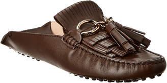 Tod's Gommino Leather Tassle Mule