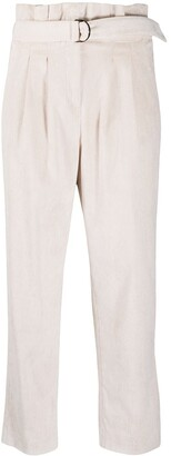 Peserico High-Waisted Belted Trousers