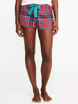 """Old Navy Patterned Flannel Boxers for Women (2 1/2"""")"""