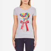 Love Moschino Women's Fitted Candy Bow TShirt - Melange Grey