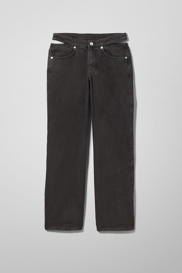 Thumbnail for your product : Weekday Jocelyn Denim Trousers - Black