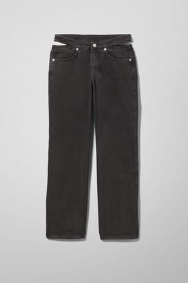Weekday Jocelyn Denim Trousers - Black