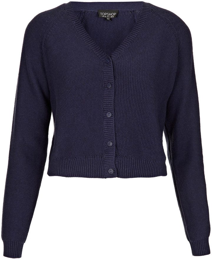 Topshop Knitted Crop Cardi