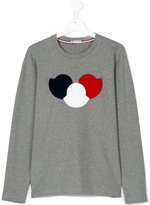 Moncler teen logo print long-sleeve T-shirt