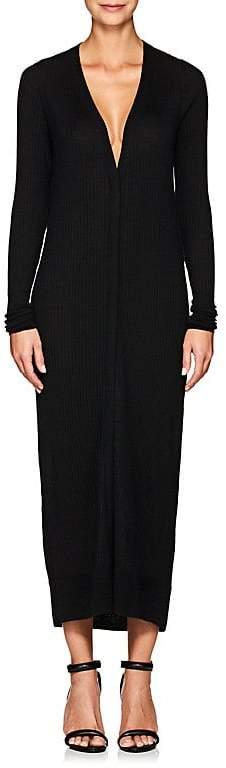 Calvin Klein WOMEN'S RIB-KNIT CASHMERE-BLEND LONG CARDIGAN