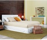 Stratus white slipcovered bed