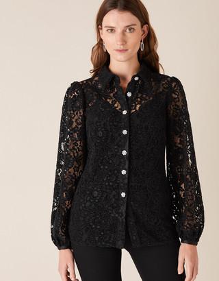 Under Armour Francesca Floral Lace Shirt Black