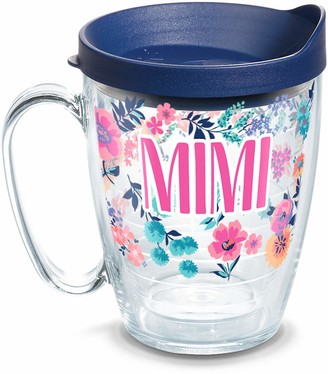 Tervis 1314905 Mimi Dainty Floral Insulated Travel Tumbler with Wrap and Navy Blue Lid 16 oz Mug - Tritan