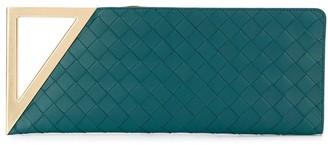 Bottega Veneta metallic handle Intrecciato clutch