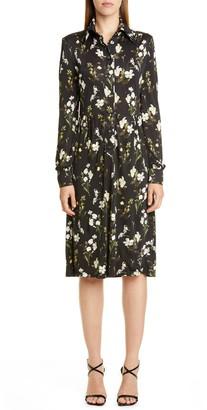 Erdem Floral Long Sleeve Shirtdress