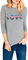 Oasis Rainbow Love Knit Jumper, Mid Grey