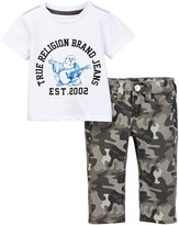True Religion Buddha Tee & Geno Single End Jean Set (Baby Boys)