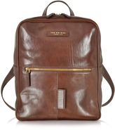 The Bridge Passpartout Marrone Leather Backpack