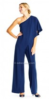 Adrianna Papell One Shoulder Draped Jumpsuit