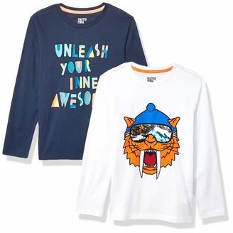 Spotted Zebra Boy's 2-Pack Long-Sleeve Novelty T-Shirts