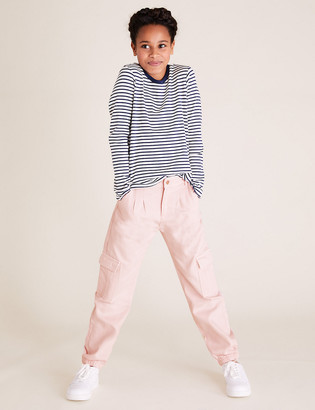 Marks and Spencer Cotton Cargo Trousers (6-14 Yrs)