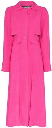 Jacquemus button midi coat dress