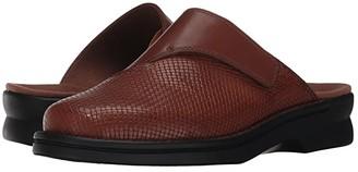 Clarks Patty Tayna (Dark Tan Leather) Women's Clog Shoes
