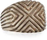 John Hardy Men's Bedeg Lava Linear Triangle Ring, Size 10