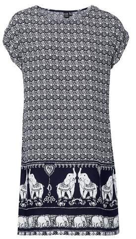 Dorothy Perkins Womens *Izabel London Navy Elephant Print Shift Dress, Navy
