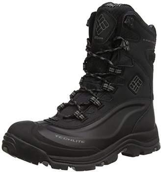 Columbia Mens Bugaboot Plus III Omni-Heat Snow Winter Boots Hiking, Black (Black, Charcoal)