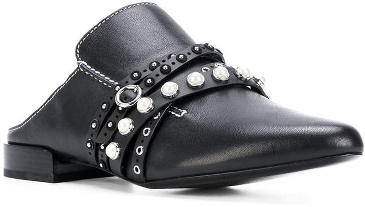 3.1 Phillip Lim faux pearl strappy mules